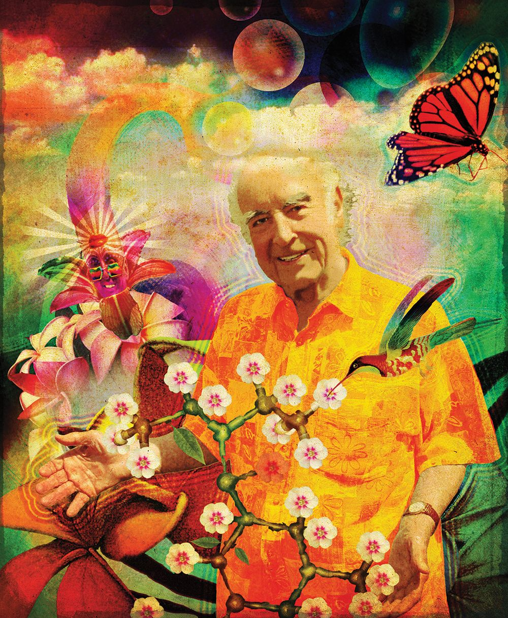 "Albert Hofmann Bicycle Day 2020 (Photo- Jakob Krattiger; illustration from ""Das Basler Buch"")"